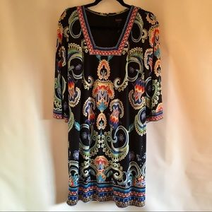 Laundry By Shelli Segal Blue Printed 3/4 Sleeve 6